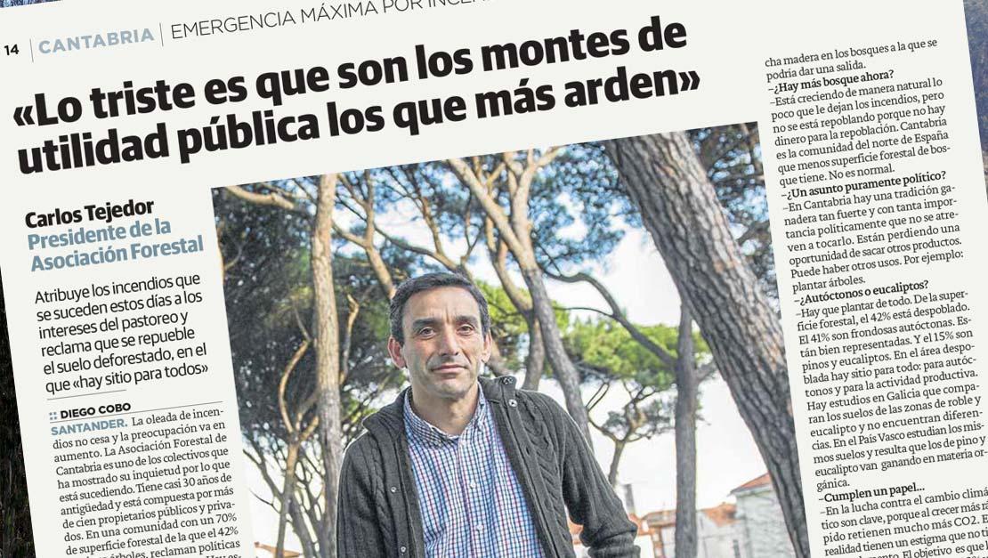 Entrevista al presidente de Asforcan Asociación Forestal de Cantabria