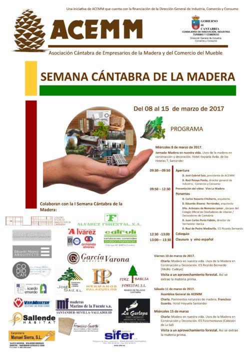 SEMANA CANTABRA MADERA Cartel